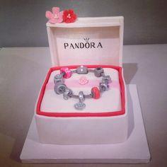Pandora Cake Teen Cakes, Birthday Parties, Birthday Cake, Mom Cake, Unique Cakes, Pandora Cakes, Amazing Cakes, Cake Decorating, Decorative Boxes