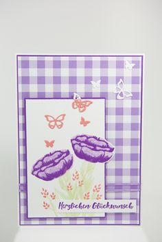 Geburtstagskarte mit Alles was Freude macht von Stampin' Up! Stamping, Up, Birthday Cards, Catalog, Celebration, Calendar, The Incredibles, Amazing, Flowers