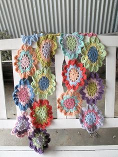 Japanese flower scarf.  This really isn't my style, but it's sooo pretty!