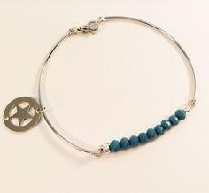 Rhodium - Cristal de Bohême Turquoise Bracelet, Charlotte, My Love, Bracelets, Jewelry, Products, Crystal, Jewlery, Jewerly