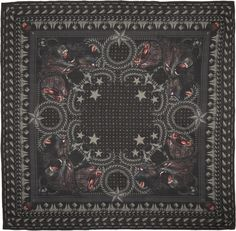Givenchy: Black Monkey Brothers Scarf | SSENSE
