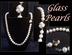 1950's Gorgeous Glass Pearl Necklace by PurpleHazeDayz on Etsy,