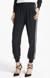 Joie 'Mariner B.' Tuxedo Track Pants available at Athletic Inspired clothes are HOT for fall Jogger Pants, Joggers, Modern Tuxedo, Tuxedo Pants, Next Clothes, Nordstrom Anniversary Sale, New Wardrobe, Pants Outfit, Black Pants