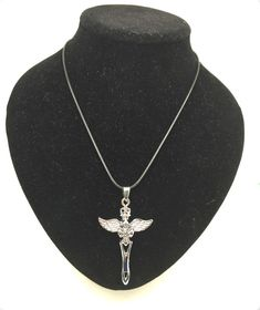 1 pcs Vintag Jesus Faith Glass Cabochon Tibet silver pendant chain necklace #