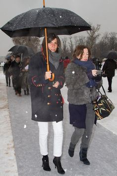 Vogue Paris Chief Editor, Emmanuelle Alt in an Isabel Marant military coat