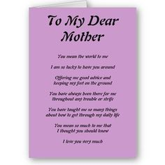 Happy Mother's Day Poems | mother s day express your feelings that how much you love your mother ...