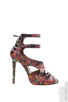 womensweardaily:    Tabitha Simmons Spring '12  Bailey sandal in custom floral silk.