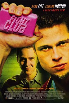 Directed by David Fincher. With Brad Pitt, Edward Norton, Meat Loaf, Zach Grenier. An insomniac office worker and a devil-may-care soapmaker form an underground fight club that evolves into something much, much more. Streaming Hd, Streaming Movies, Hd Movies, Movies Online, Movie Tv, 2020 Movies, Cult Movies, Edward Norton, Brad Pitt