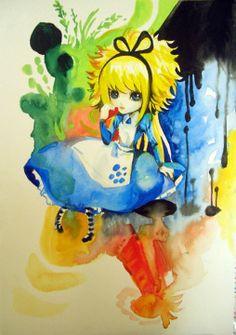★【ALICE MISA心夢少女】主插畫。 好久沒玩水彩創作了~~~~~~