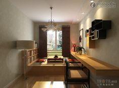 Encyclopedia of modern minimalist Interior tatami renovation renderings | Living Room