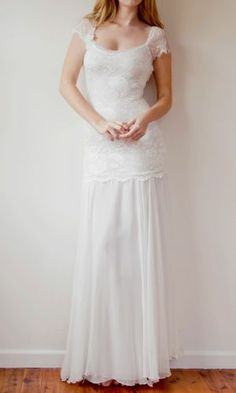 Dress I will buy for my wedding one day! (Alter to quarter length sleeves.)