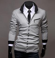 Men's Stand Collar Light #Cardigan