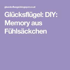 Glücksflügel: DIY: Memory aus Fühlsäckchen
