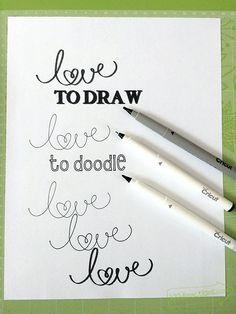 Different pen strokes with the new Cricut Black Pens set