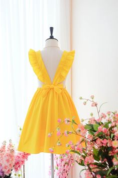 7ee05a0433a1 Yellow Suspender sundress - KEERATIKA ELODIE. Yellow Sundress
