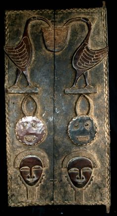 Владимир Кисель - Africa | House door from the Baoule people of the Ivory Coast | Carved wood - image unfound
