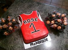 Jersey Cake with Basketball Cake Pops