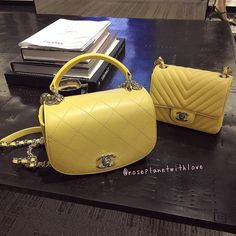 "131 Likes, 18 Comments - roseplanet (@roseplanetwithlove) on Instagram: ""I'm hesitating  #chanel #chanelbag #chanelminisquare #chanelyellow #fashion #fashionblog"""