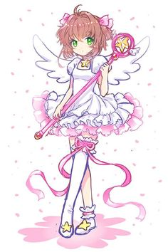 Aw! Sakura!!! From Card Captor Sakura. Kawaii! >w<