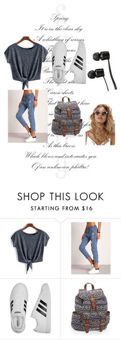 """""""Untitled #32"""" by romi6-1 ❤ liked on Polyvore featuring adidas, Aéropostale and Vans"""