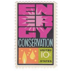 Energy Conservation - US Postage Stamp - 10 cents