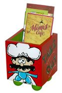 Great way to decoratively store those takeout menus. Bistro Buddies - Artoons by Full Circle