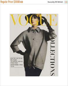 50% off ESTATE SALE Vintage French Vogue Cover by millpondvintage