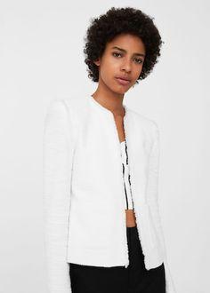 Frayed edges jacket | MANGO