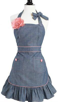 Annie Denim vintage apron. Could use old jeans.