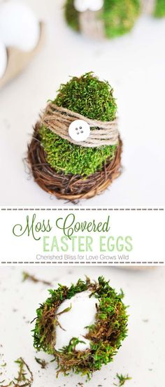 Moss Decoration: 32 Easter Egg Designs & Ideas For Homesteaders