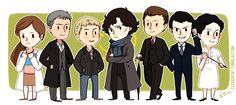 """cloudrop: """" Welp finally uploaded these. Making these into bookmarks and possibly keychains and buttons. Sherlock Holmes Bbc, Sherlock Fandom, Moriarty, Sherlock Drawing, Holmes Brothers, Mrs Hudson, Benedict Sherlock, Sherlolly, Johnlock"""