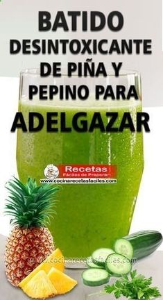 Detoxifying ananas og agurk smoothie for slanking Healthy Juices, Healthy Smoothies, Healthy Drinks, Healthy Tips, Healthy Recipes, Weight Loss Drinks, Weight Loss Smoothies, Smoothie Drinks, Smoothie Recipes