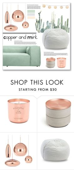 """copper and mint"" by mariarty ❤ liked on Polyvore featuring interior, interiors, interior design, home, home decor, interior decorating, Tom Dixon and Umbra"