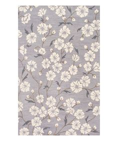 Look at this Gray Floral Chassidy Wool Rug on #zulily today!