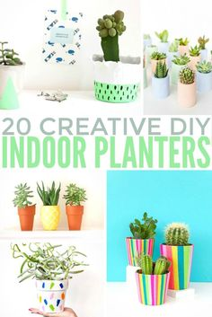 A couple of days ago I was looking for new DIY weekend projects for my home and I came across 20 Creative DIY Indoor Planters that can bring any interior to life.
