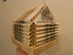 Подарки из денег своими руками. Как оформить подарок деньгами и какие слова поздравления к денежному подарку на свадьбу, день рождения, юбилей?