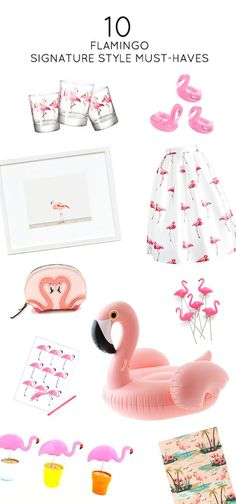 Hallmark Signature is suffering from a serious case of flamingo fever! These 10 Flamingo Signature Style Must-Haves featured on Sugar & Cloth—including fashion pieces, cards, and party decor—are perfect for any girl who loves all things pink and stylish! Flamingo Gifts, Flamingo Decor, Pink Flamingos, Cute Pink, Pretty In Pink, Tropical Bedrooms, Tropical Outfit, Flamingo Pattern, Signature Style