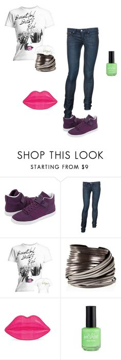 """BLÁ BLÁ BLÁ"" by lucasutee ❤ liked on Polyvore featuring Forum, Frankie B., Rich & Skinny, PENNY LEVI and Lulu Guinness"