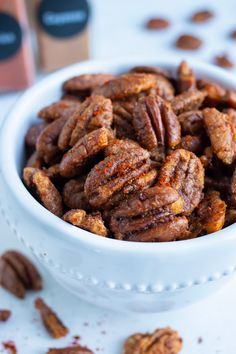 Savory Roasted Pecans Recipe, Spiced Pecans, Toasted Pecans, Healthy Appetizers, Healthy Snacks, Healthy Recipes, Pecan Recipes, Snack Recipes, Best Food Gifts