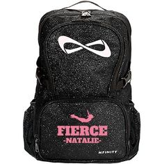 Fierce #Cheer Fan #Nfinity Backpack you can personalize for cheer practice, cheer camp and for school! #SquadGoals!