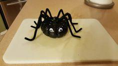 mini pumpkin decorating. black spider.