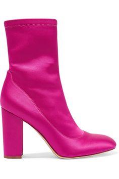 Sam Edelman   Calexa stretch-satin sock boots   NET-A-PORTER.COM