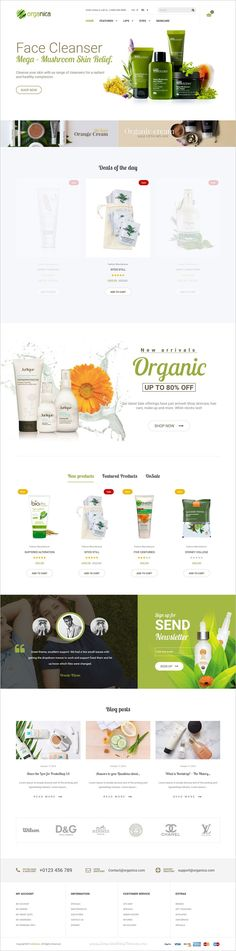 Organica is a wonderful responsive 6in1 #Prestashop theme for organic for, beauty product or #cosmetics #shop eCommerce websites download now➩ https://themeforest.net/item/organica-organic-beauty-natural-cosmetics-food-farn-and-eco-prestashop-theme/19216612?ref=Datasata