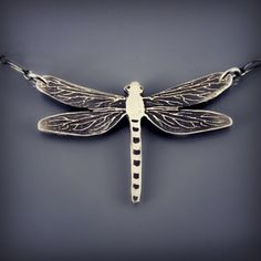 Sterling Silver Dragonfly Necklace by Lisa Hopkins Design