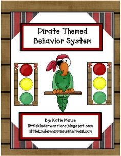 Use this stoplight system to manage behavior in your Pirate themed classroom! One Eyed Willie (the Parrot),) will be watching over your classroom . New Classroom, Classroom Setting, Classroom Setup, Classroom Organization, Organizing, Behavior Management System, Behavior System, Classroom Management, Stoplight Behavior