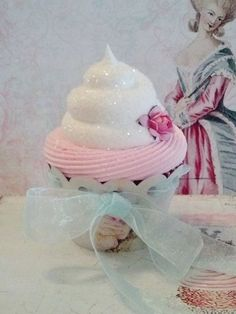 SHABBY COTTAGE FAKE CUPCAKE HOME DECOR, GIFTS, SHOP DISPLAYS, PHOTO PROPS #FakeCupcakeCreations