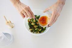 Brussel sprouts w sweet chili sauce. #uchiko #uchi