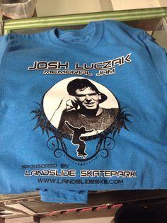 Josh Luczak Memorial Jam tee $10 donation toward the event