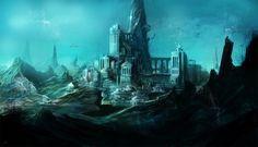 Картинки по запросу атлантида город под водой