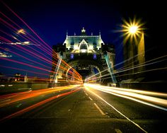Another long exposure from Tower Bridge a couple of weeks ago, a first experiment with night photography Light Trails, Long Exposure, Night Photography, Tower Bridge